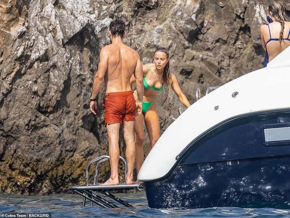 Close:The pair, who initially began dating in 2015 and endured a split in late 2018, looked in great spirits and appeared affectionate towards each other during the outing