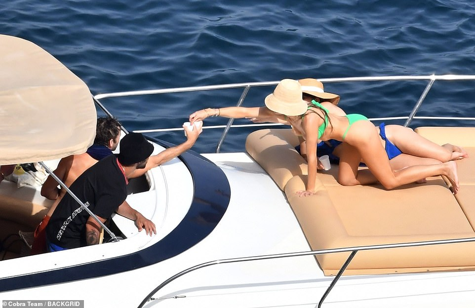 Company: The group were making the most of their time on the Italian island of Capri