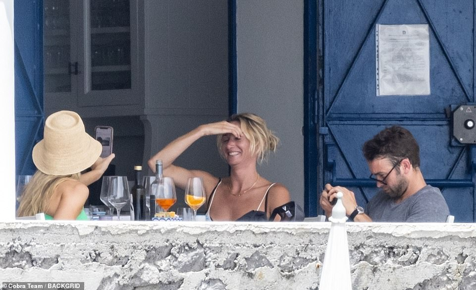 Refreshments:Earlier, the gang were seen on shore as they enjoyed drinks together at a local restaurant