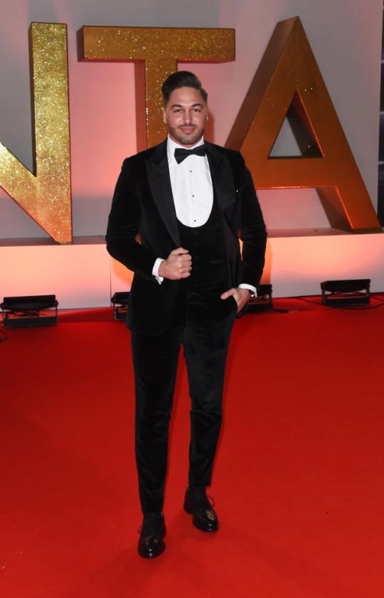 Mario Falcone at the National Television Awards 2019