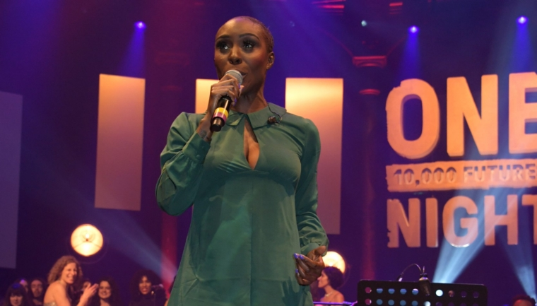 LONDON, ENGLAND - MARCH 14: Laura Mvula performs at the Roundhouse Gala, an evening raising money for the venue's charitable work with young people, at The Roundhouse on March 14, 2019 in London, England. (Photo by David M. Benett/Dave Benett/Getty Images for The Roundhouse)