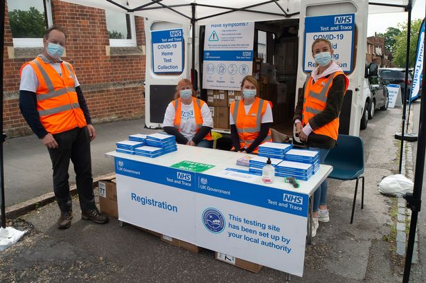 Mandatory Credit: Photo by Maureen McLean/REX/Shutterstock (12189455b) Free NHS Covid-19 lateral flow test packs were being given out to members of the public today in Beaconsfield. A mobile Covid-19 testing service was also available. The Covid-19 restrictions are now expected to be lifted in England from 19th July despite the alarming surge in the number of positive Covid-19 cases due to the Delta Variant Covid-19 lockdown, Lateral Flow Testing, Beaconsfield, Buckinghamshire, UK - 29 Jun 2021