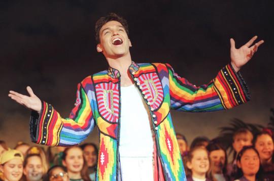Phillip Schofield in the title role in Joseph and the Amazing Technicolour Dreamcoat.