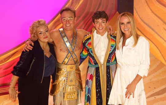 Sheridan Smith, ason Donovan, Jac Yarrow and Amanda Holden at Joseph And The Amazing Technicolor Dreamcoat performance.