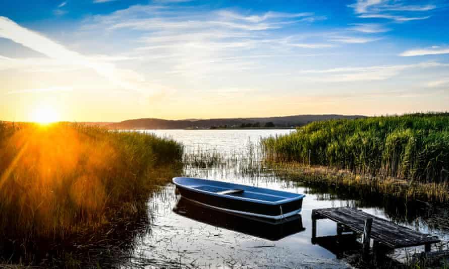 Sunset in Mecklenburg, western Pomerania, Ruegen, Sellin