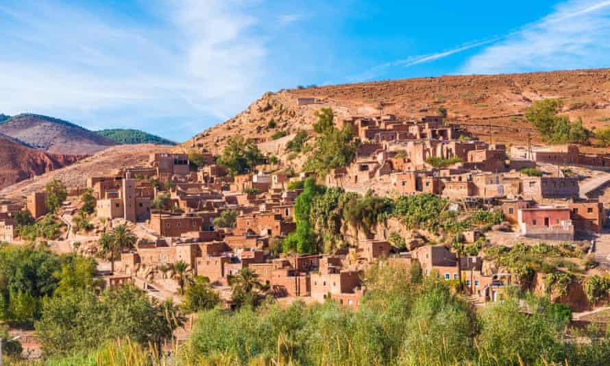 A Berber village in the Toubkal national park, Morocco