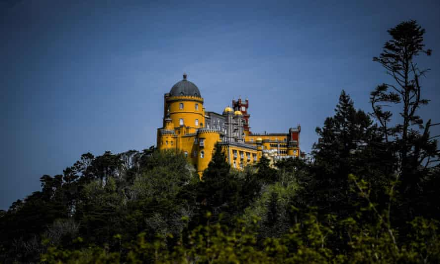 The imposing Pena Palace in Sintra, Portugal