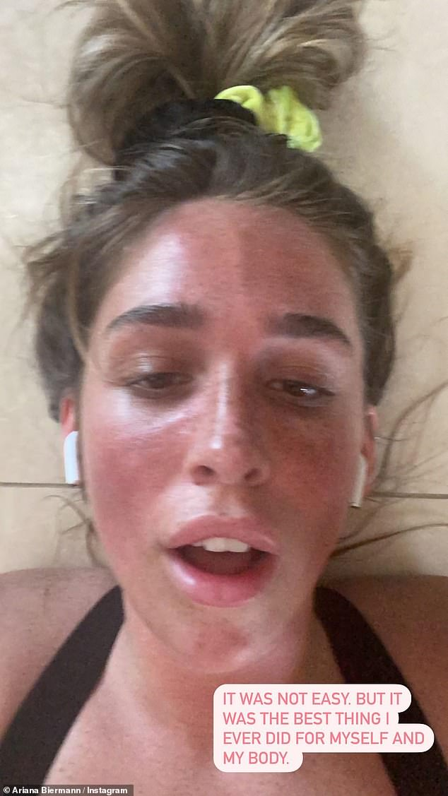 'It was not easy': The daughter of Kim Zolciak posted this photo of herself, fresh from a workout