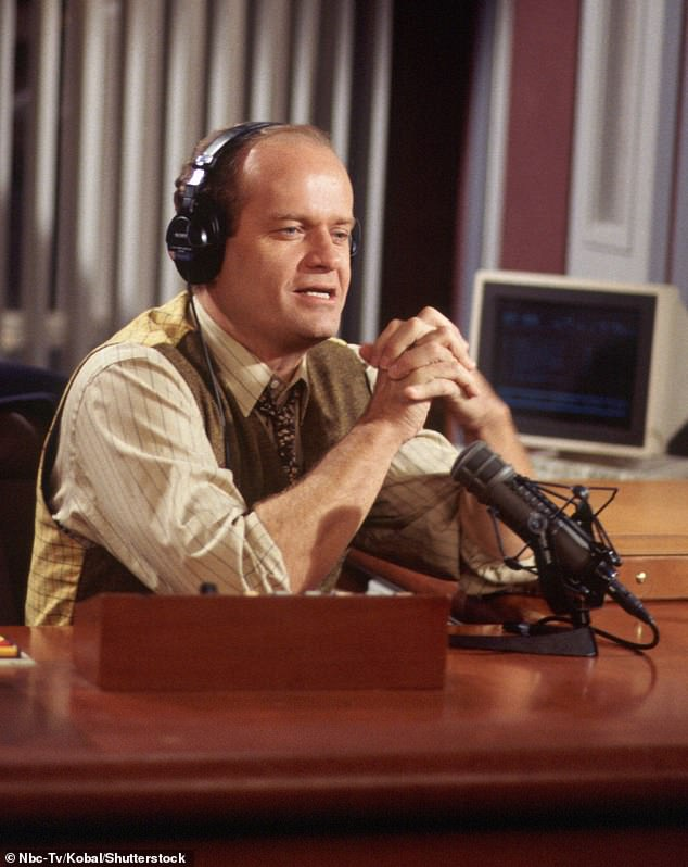 Classic character: Grammer compared Frasier to the lead character in It's A Wonderful Life. 'He's like the George Bailey of television,' he said. 'He thinks he's gonna go off and do one thing, and sure enough, his life takes him in another direction'; still from Frasier