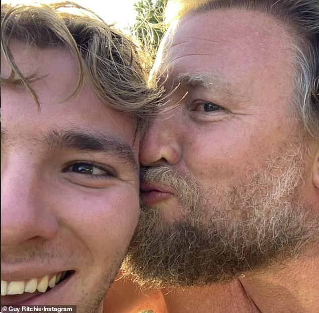 Milestone: Then, on August 11, Madonna will celebrate the 21st birthday of her son Rocco (L, pictured in 2020) from her nearly eight-year marriage to British filmmaker Guy Ritchie (R), which ended in 2008