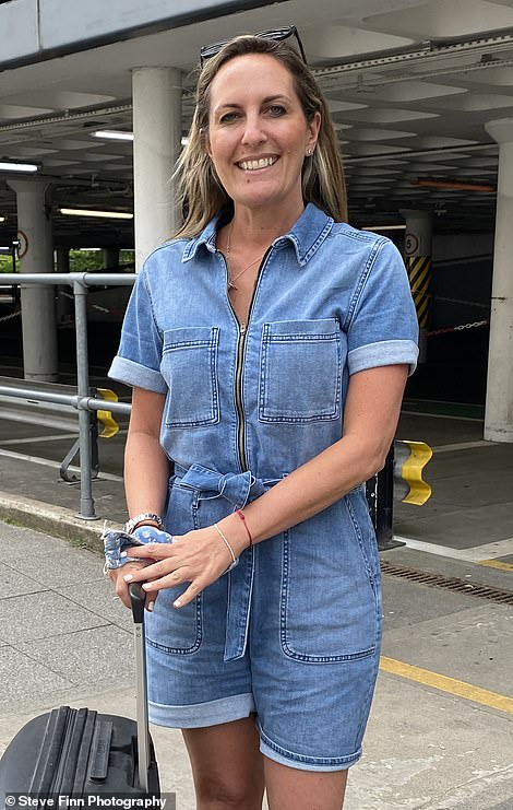 Faith Wheeler, 42, from Brighton is going to Ibiza to visit a friend. She booked her flights last week when the country was being battered with rain. Ms Wheeler said: 'If the rules change, I don't care - I'm going anyway. 'I've got all the insurance if it gets cancelled or if I get covid out there and have to stay'