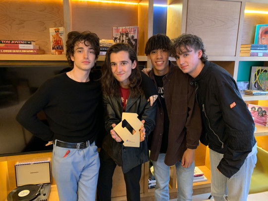 Dublin rock band Inhaler celebrate landing number one with their debut album It Won't Always Be Like This