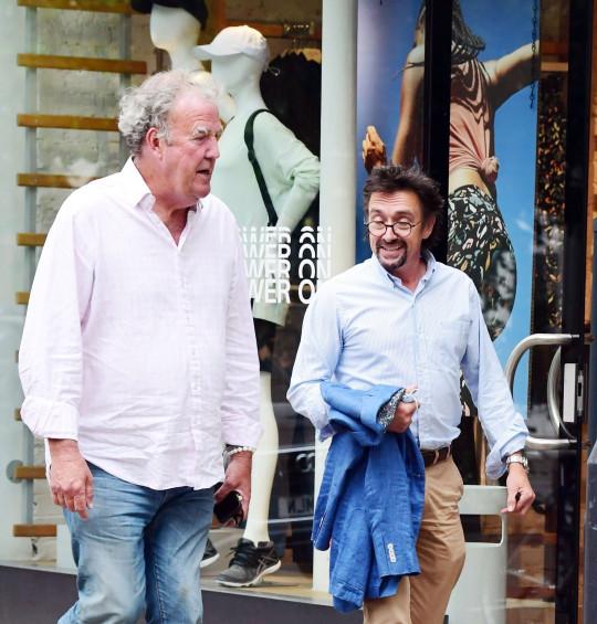 Jeremy Clarkson and Richard Hammond walking