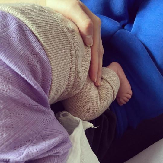 Alex Pettyfer and wife Toni Garrn's baby daughter Luca Malaika