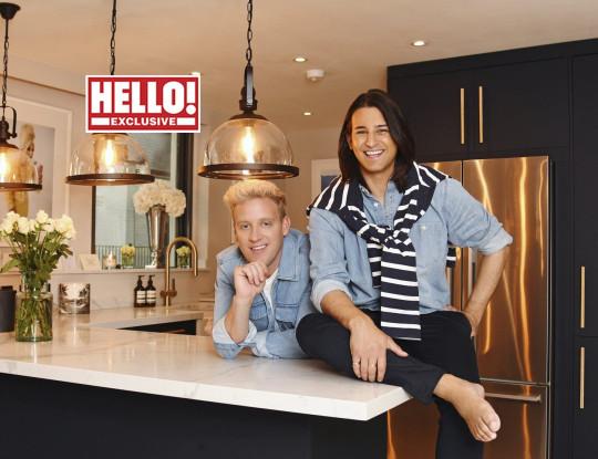 Ollie Locke and Gareth Locke in their kitchen.