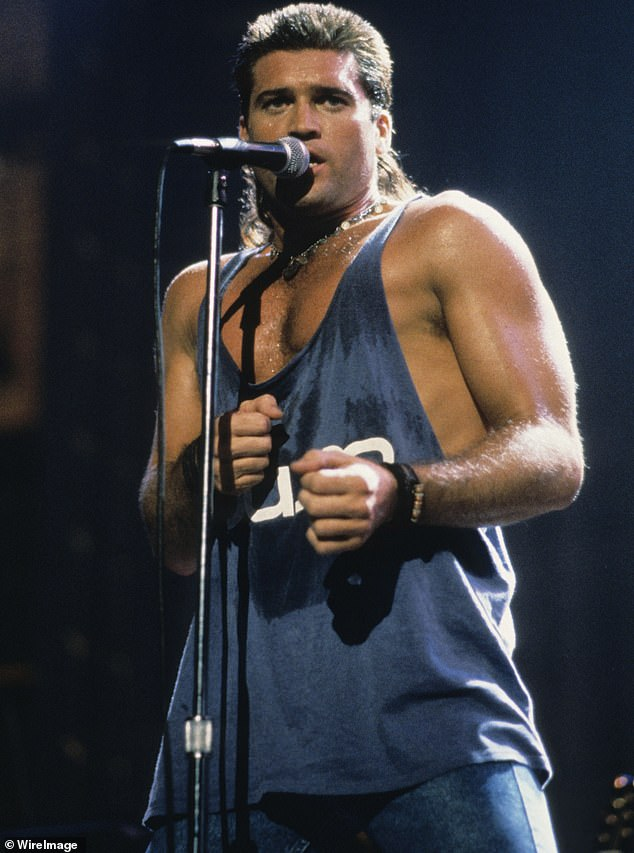 Sizzling sensation:Billy Ray became known as a sex symbol and a one-hit wonder after the runaway success of his hit single Achy Breaky Heart in 1992; pictured onstage in the 1990s