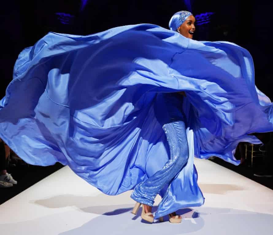 Haima Aden at the Sherri Hill show in 2019