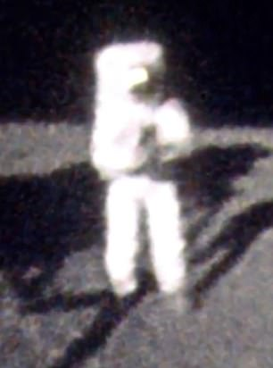 This is one of the few images of Neil Armstrong on the moon, seen through the reflection in Buzz Aldrin's visor