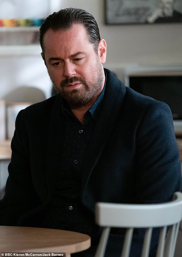 Protective: In the upcoming episode, Nancy's dad Mick (Danny Dyer) storms into the gym and corners Zack as he demands to know his intentions with his daughter