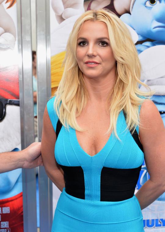 Britney Spears attends Smurfs 2 premiere