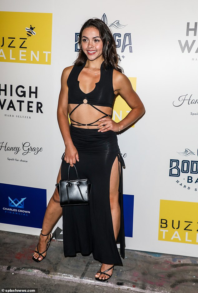 Looking good: Vanessa teamed her stunning look with strappy black heels