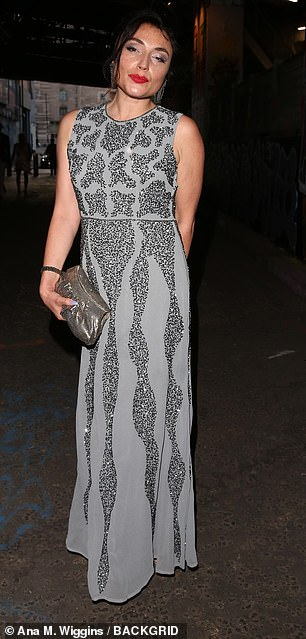 Elegant: Actress Lois Winstone looked sensational in a floor-length silver gown
