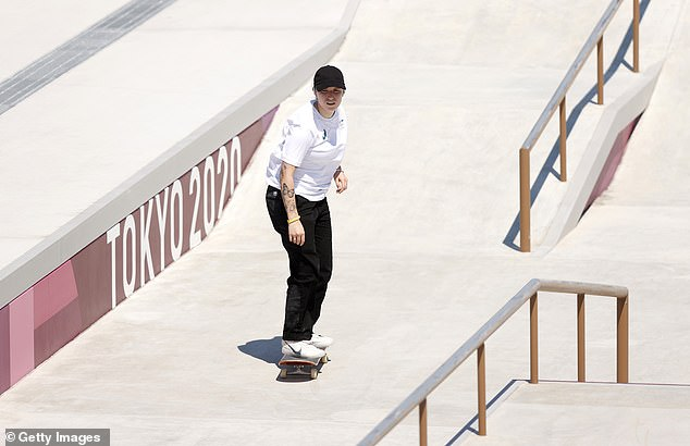 In with a shot: In women's skateboarding, Australia's world No.6 Wilson (pictured this month) is considered an outside medal chance