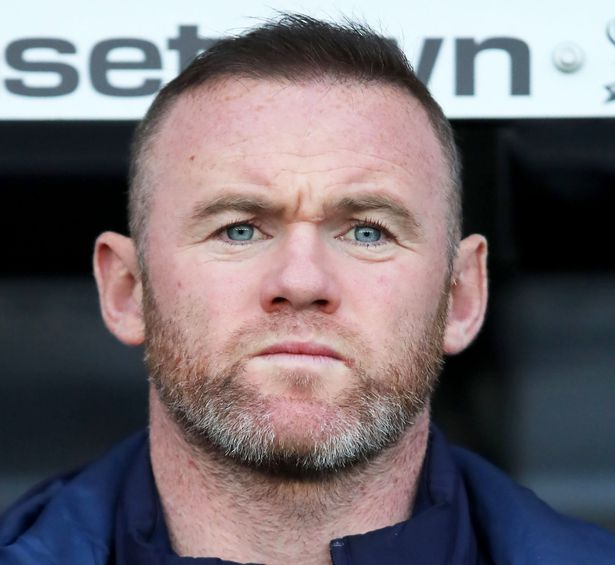 Wayne Rooney is seen before a Derby match