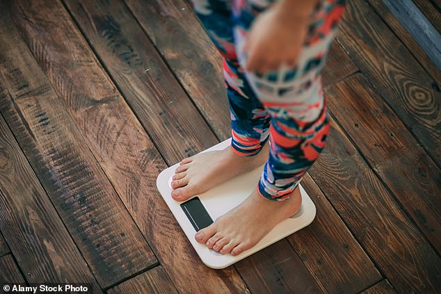 Experts also found a link between youngsters having problems in childhood, such as being overweight (stock image) or internalising problems, and chronic health problems in middle age