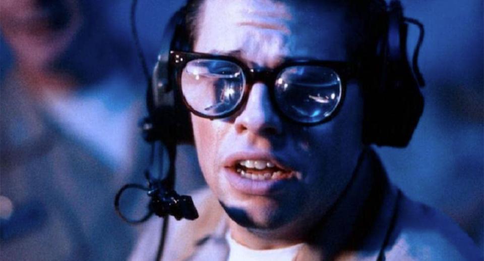 Jon Cryer in a still from Hot Shots! (20th Century Fox)