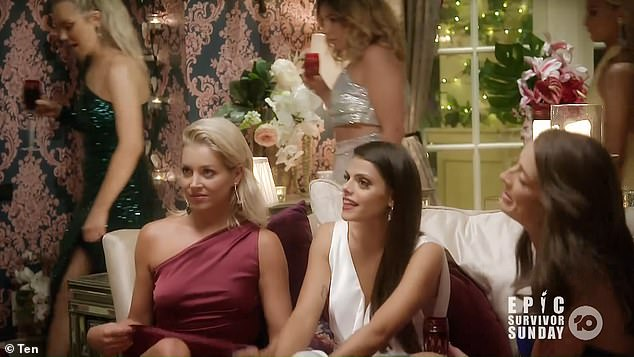 Tense: Holly looked furious as Stephanie walked into the party, as she prepared to confront her about her choice of words