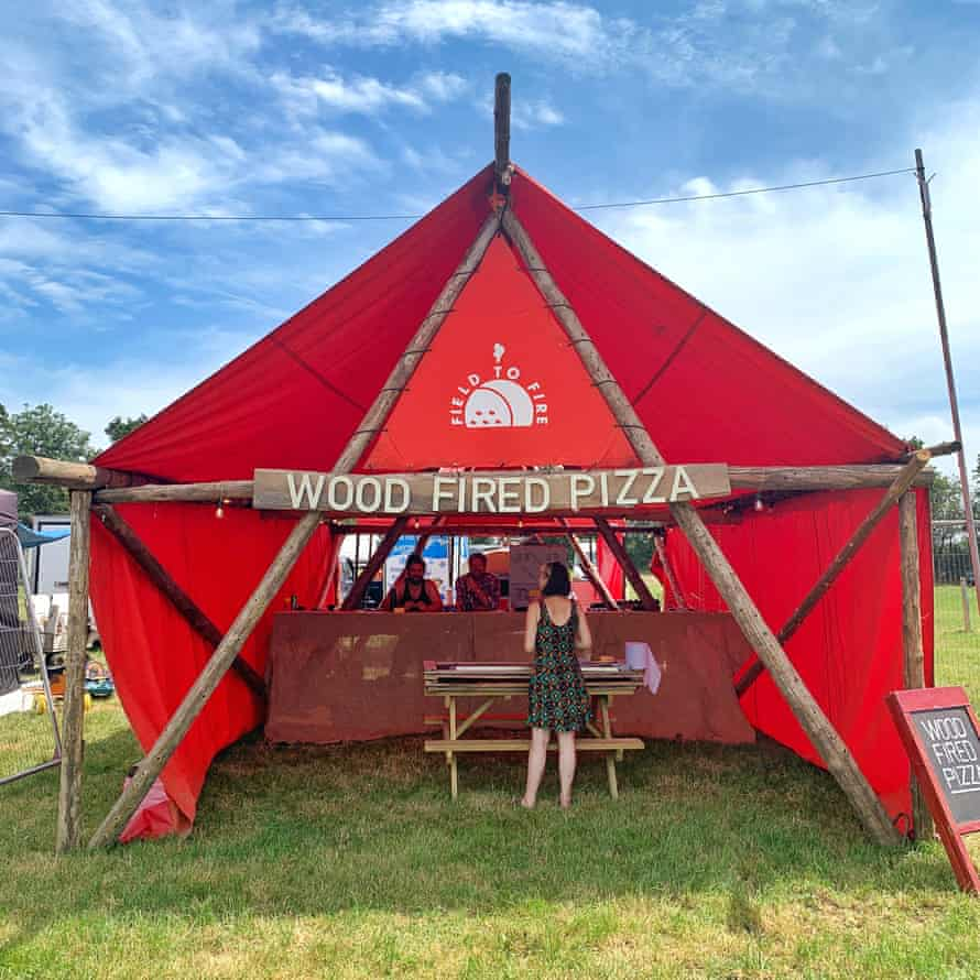 Pizza stand at Worthy Pastures