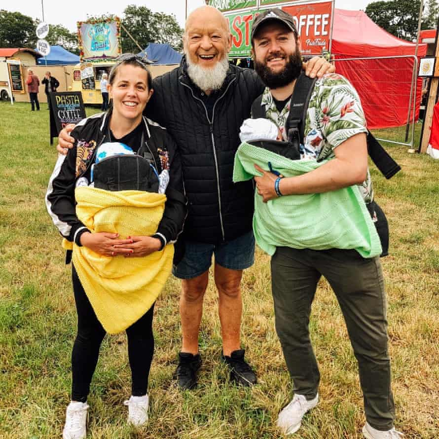 Kate Leahy and family with Michael Eavis