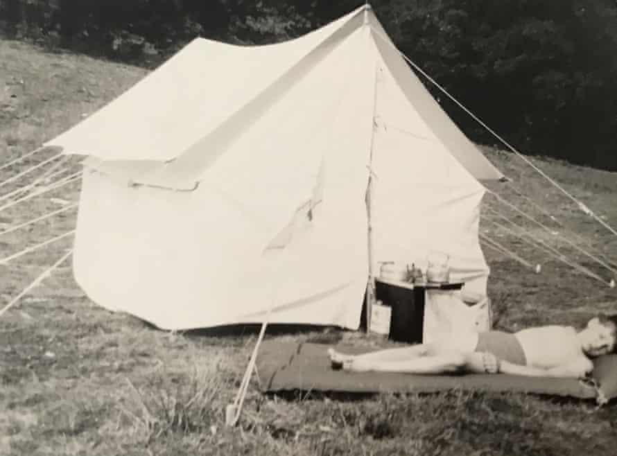 John Boden, camping in Scotland in 1958.