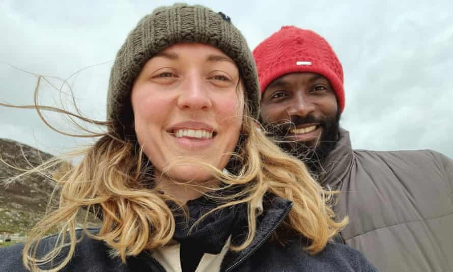 Leks Olubodun and his partner in Scotland.