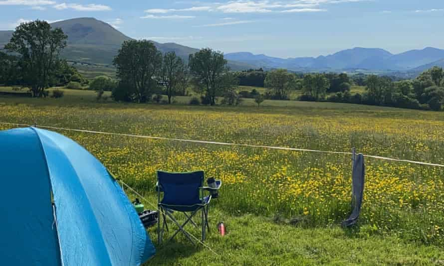 The view from Alison Stott's camping trip in Cumbria, June 2021.