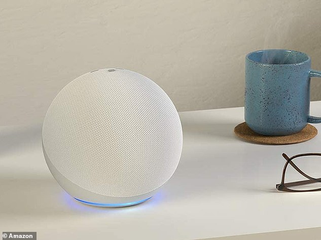 Amazon's smart assistant powers the Echo speakers, including the spherical fourth generation Echo released last autumn (pictured)