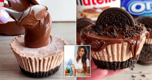 Nutella and Oreo mini cheesecakes