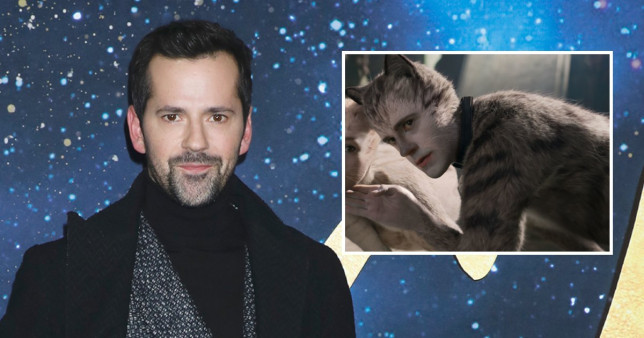 Cats star Robbie Fairchild and inset in the film as Munkustrap