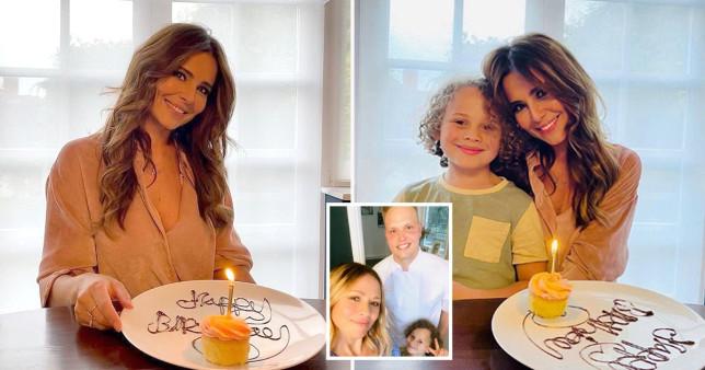 Cheryl celebrates 38th birthday with Kimberley Walsh