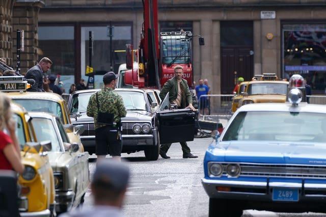 Filming in Glasgow