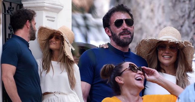 Jennifer Lopez and Ben Affleck in Capri