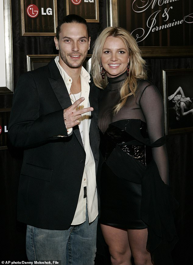 'Not an agent of the conservators': Kevin Federline claimed he 'never used his children as pawns' and was 'not involved' in his ex-wife Britney Spears' conservatorship, now in its 13th year (pictured in 2006)