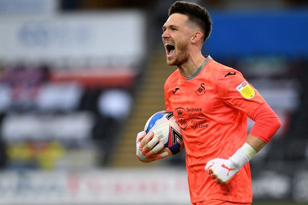 Freddie Woodman helped Swansea reach the play-off final last season