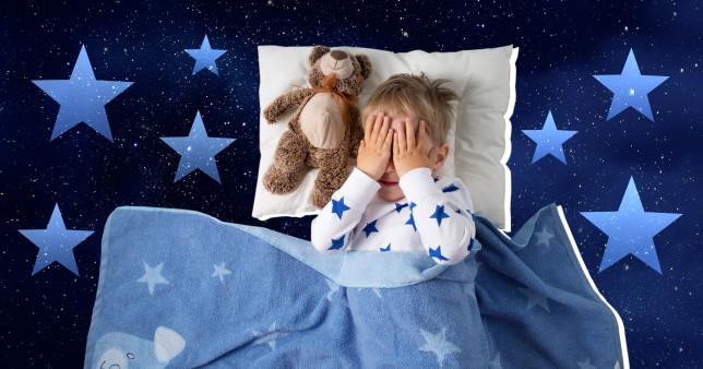 little kid in bed