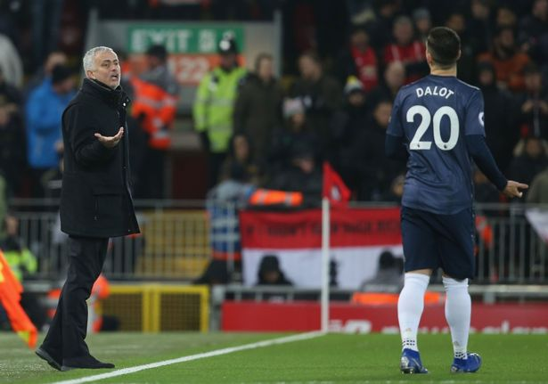 Jose Mourinho had no problem heaping praise on Diogo Dalot during his time at Man Utdv