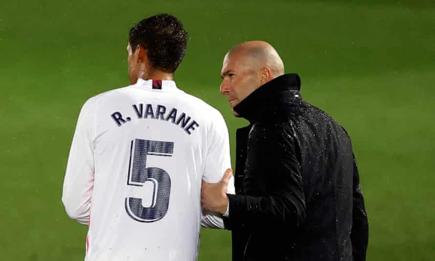 Zinedine Zidane has compared Raphaël Varane's on-field mentality to that of Laurent Blanc.
