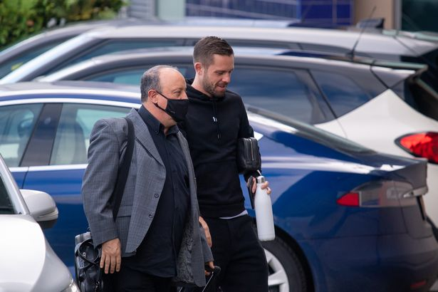 Rafa Benitez and Gylfi Sigurdsson arrive at Finch Farm for the opening day of pre-season