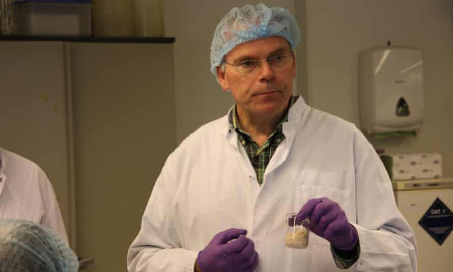 Cellular agriculture gained prominence in 2013 when Prof Mark Post of Maastricht University, above, unveiled the first cultured meat burger.