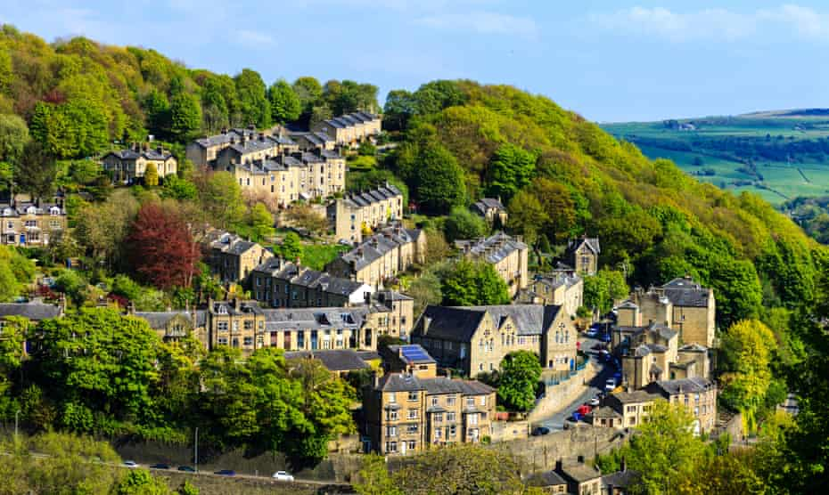 Hebden Bridge sits in the steep-sided Calder Valley.